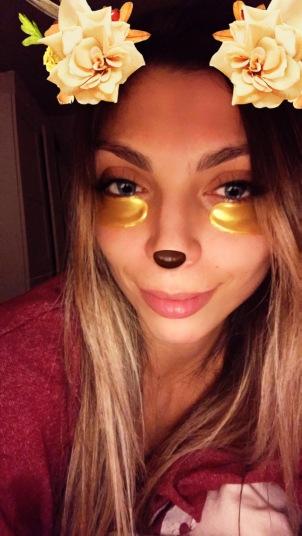 Beauty Eye Mask On
