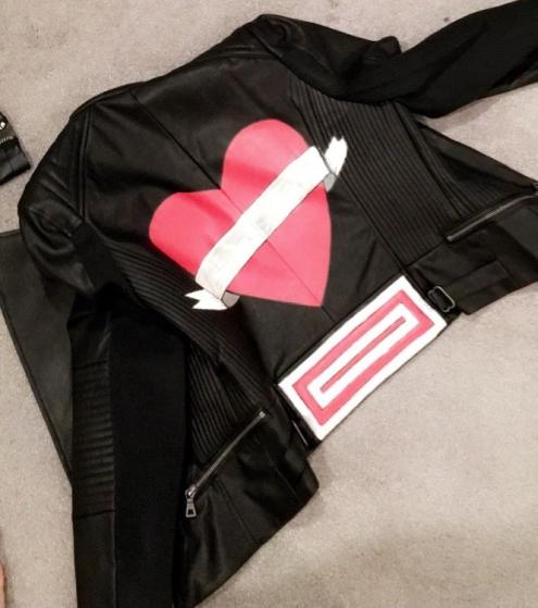Heart Back Moto Jacket